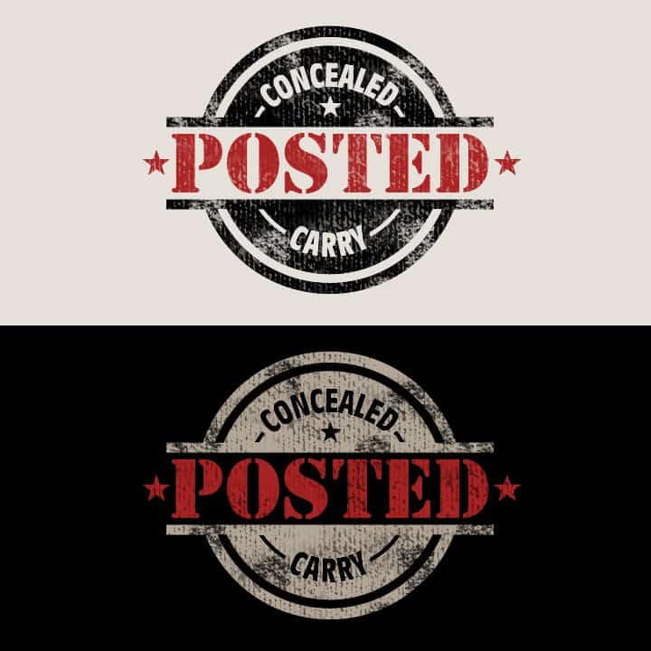 Concealed Carry Posted - Logo Design