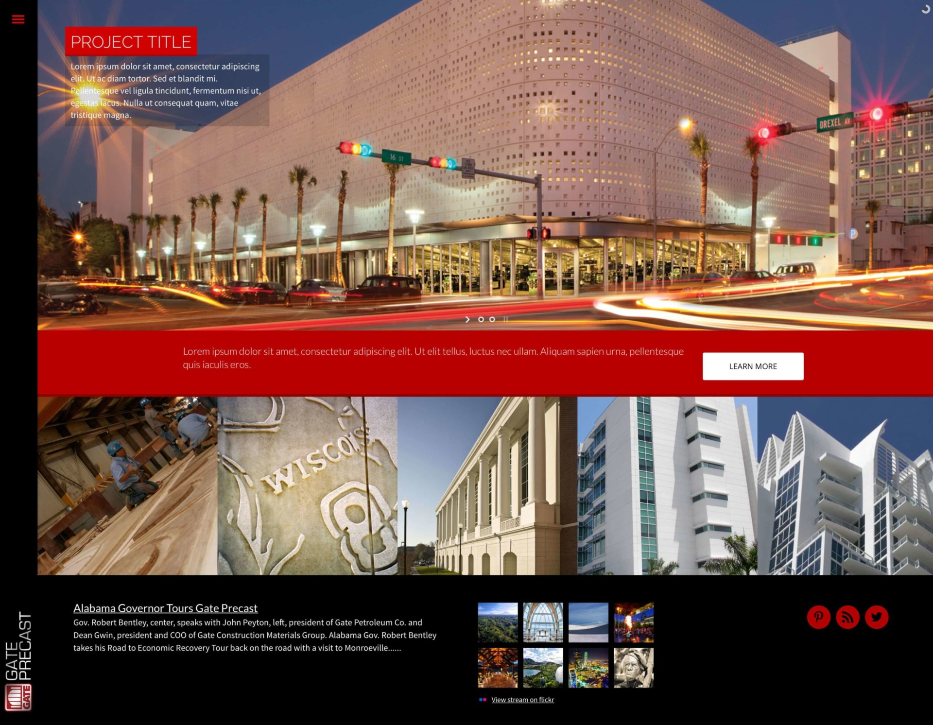 Gate Precast - Website Design