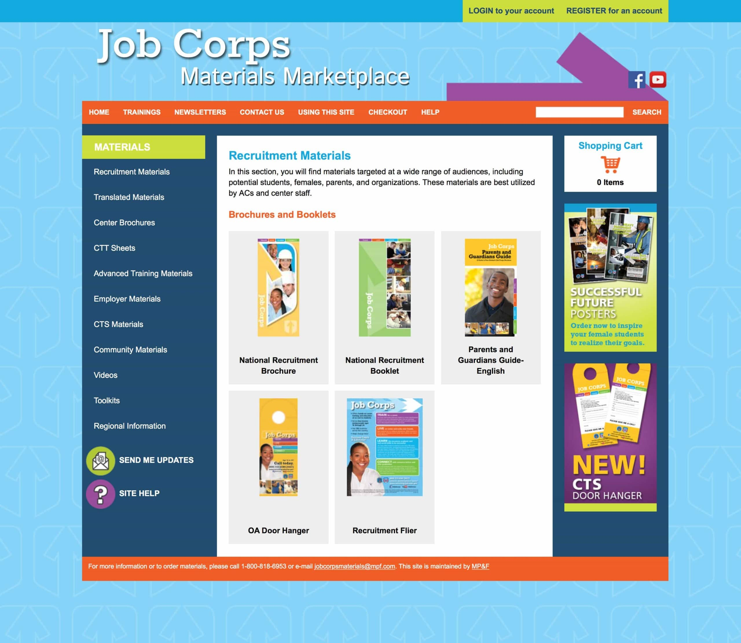 Job Corps - Website Design