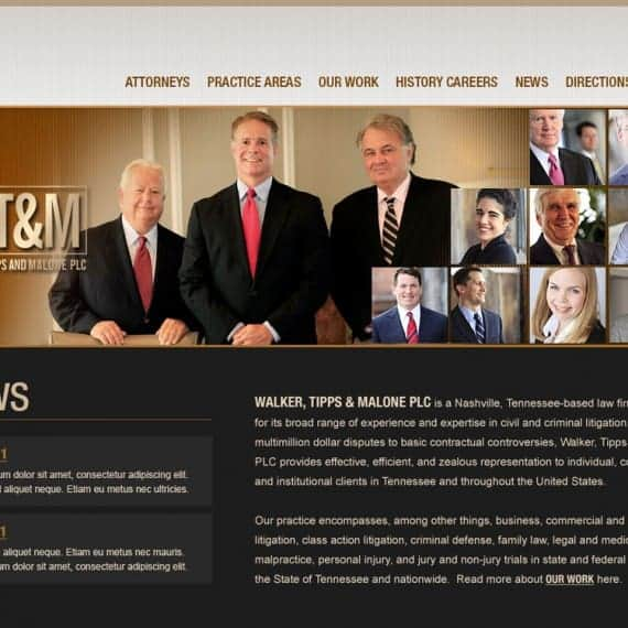 Walker Tipps Malone Attorney Website Design