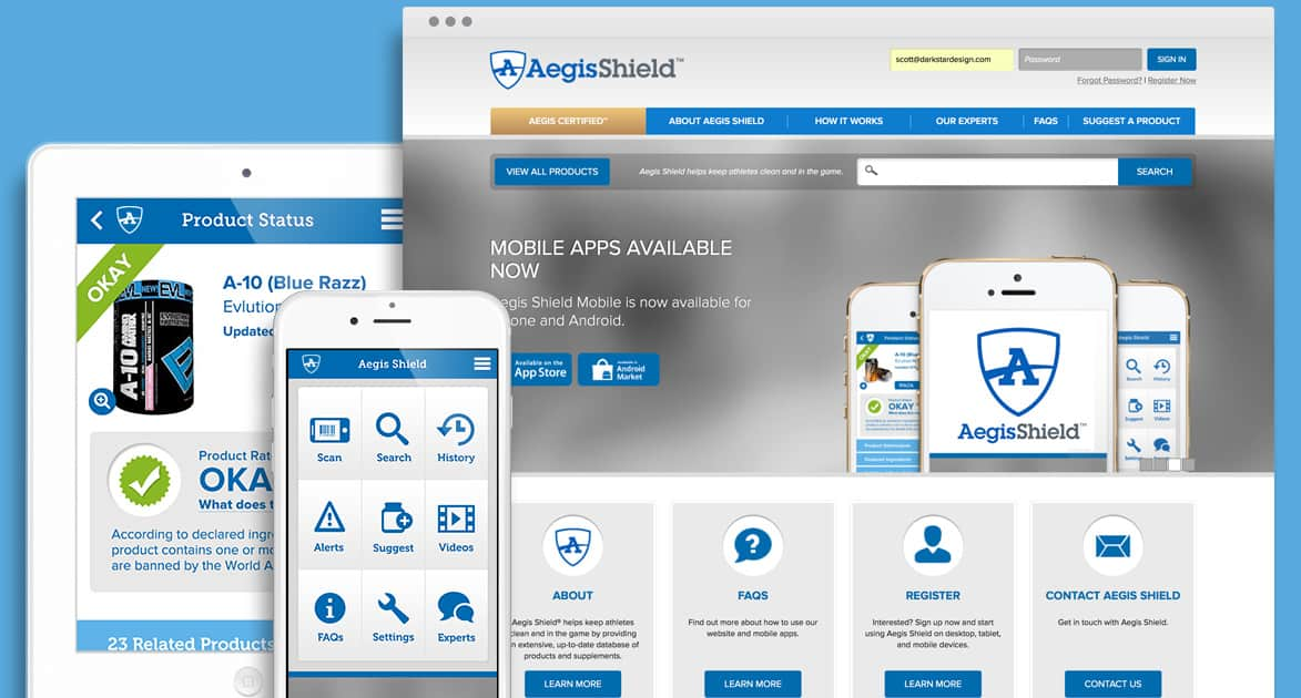 Aegis Shield - Responsive Website Design