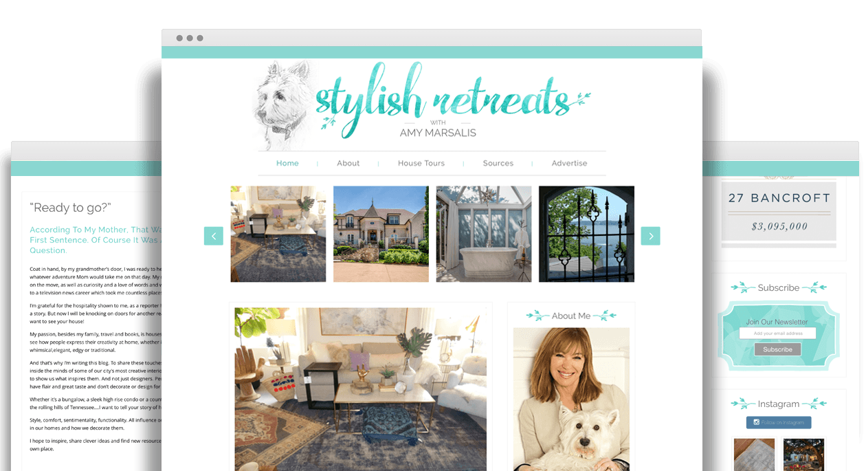 Stylish Retreats by Amy Marsalis - Responsive Web Design